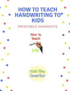 how to teach handwriting to kids image of handout sheet